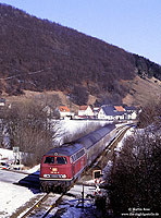 218 142 mit dem E3694 Warburg – Brilon Wald am Ostportal des Messinghauser Tunnel