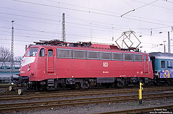 110 491 (ex 114 491, ex 112 491) in Köln Bbf, am 17.3.1997